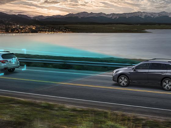 EyeSight van Subaru veilig op de weg