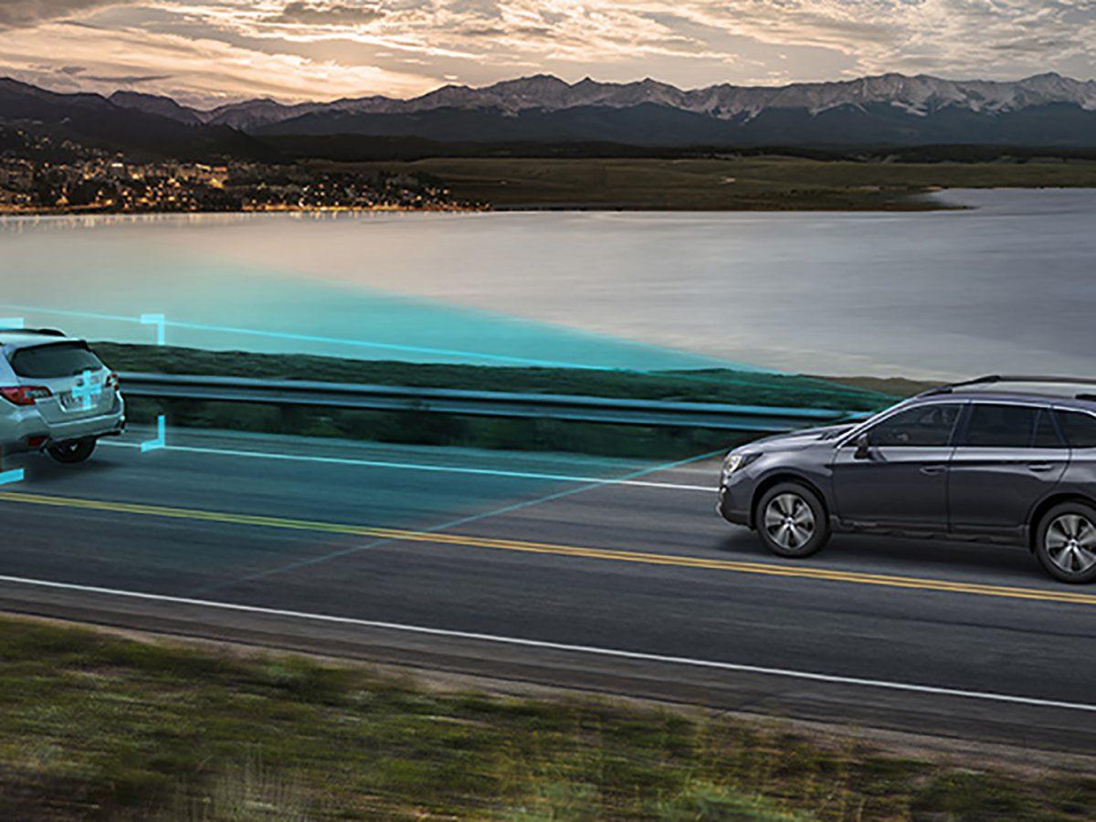 de Subaru is voorzien van EyeSight