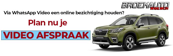 WhatsApp Videoafspraak maken voor bezichtigng bij Subarudealer Broekauto Waalwijk